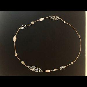 ALEXIS BITTAR Goldtone Necklace Crystals Stones